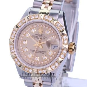 Rolex Lady Datejust Diamond Dial/bezel 26mm Watch